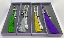 Metal BOOKMARK + Charm + TASSEL - DESIGN YOUR OWN! with FREE Gift Box+Tag READER