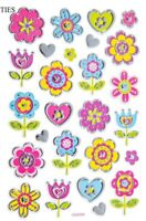 Foil Heart & Flowers 3D Stickers Stickers Planner Papercraft Journal Party