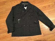 Rocawear Charcoal Gray Grey Casual Dress Wool Peacoat Coat Jacket Mens XXL 2XL