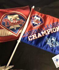New listing Philadelphia Phillies Car Flag/Banner Lot Of 2 (1 New, 1 Used) Baseball