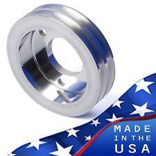 Billet Aluminum Crankshaft Pulley V-Belt SWP 396 427 454 Crank BBC 2 Steering