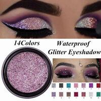 Glitter Makeup Waterproof Long Lasting Natural Eye Shadow Shimmer Eyeshadow~