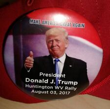 Lot of 3 August 03 2017 President Donald J Trump Huntington WV Rally Button