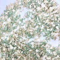 Biodegradable Wedding Confetti Petals White Delphinium + Mint Green Funfetti