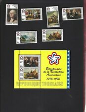 Togo sc#924-5,C270-3 #C273a Souvenir Sheet (1976) Complete MLH