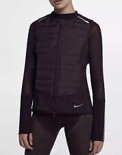 Nike Aeroloft Running Women's Vest Packable Activewear Jogging Port Wine XS