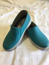 Womens Klogs 7W Teal Blues Slip/water Resistant Nursing Work Shoes