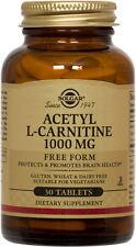 Solgar Acetyl L-Carnitine 1000mg 30 Tablets