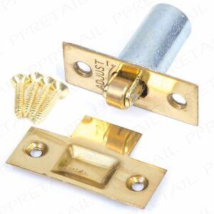 ADJUSTABLE ROLLER CATCH Internal Door Latch BRASS Spring Ball Mortice + Fixings