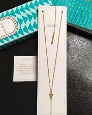 Stella & Dot Triangle Lariat Necklace NIB (gold)