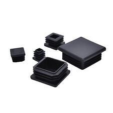 10x Plastic Black Blanking End Caps Square Inserts For Tube Pipe Box Section FT
