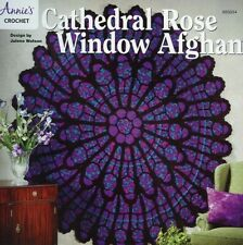 Cathedral Rose Window Afghan Crochet Pattern/INSTRUCTIONS NEW