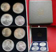 SET PRIMA SERIE CANADA 10+5 DOLLARS OLYMPIADE MONTREAL 1976 ARGENTO SILVER SET