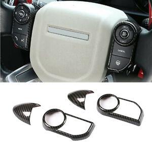 ABS Carbon Steering Wheel Strip Frame Fit For Land Rover Range Rover Sport 14-17