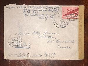 WWII Apo 689 Lt E.M. Neshitt 48th Hospital Army Censored Cover