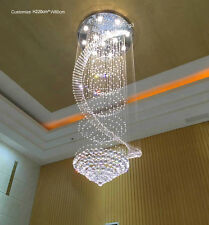 """H71"""" x W27.6"""" Modern Crystal Chandelier Spiral Light Lamp Lighting Fixture"""