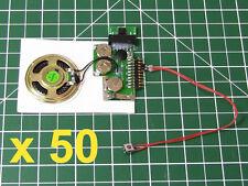 50pcs - DIY KIT 200sec 1-BUTTON MP3 device voice music sound record chip module