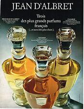 PUBLICITE ADVERTISING  1969   JEAN D'ALBRET   parfums