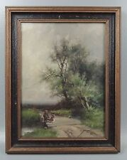 Signed American William H. Couper 1853-1942 Fishing Landscape Oil Painting #2 2D