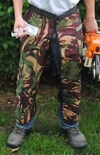CAMOUFLAGE SAFETY CHAPS, HARD HAT, EAR MUFFS, GLASSES,  3-Piece Combo Safety Kit
