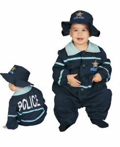 Baby Police Officer Deluxe Infant Toddler Costume w/Hat