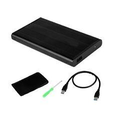 """BOX ESTERNO HARD DISK 2,5"""" IDE PATA ALLUMINIO USB 2.0 COLORE NERO BLACK"""