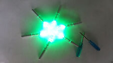 6X Green Automatically Led Lighted luminous tail Arrow Nocks with 2 Screwdrive