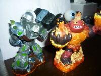 Skylanders Giants x 3 --- WiiU Xbox PS3 Universal Character Figures.