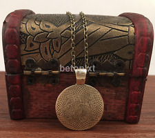 Popular Vintage Living Tree Glass Cabochon Bronze Chain Pendant Necklace FR