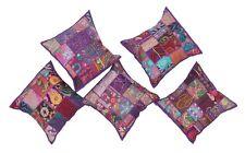 Embroidered Zari 5 PC Set Home Decor Sofa Cushion Cover Sofa Pillow Cases