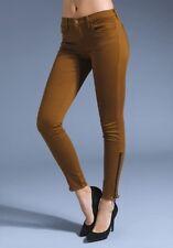 J BRAND 6220 Skinny Ankle Stretch Zipper Hem Jean in Moss Brown - Size 29