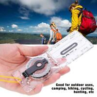 Lightweight Portable Baseplate Ruler Map Scale Compass Outdoor Camping Hiking
