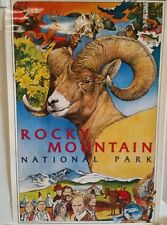 Beautiful Rocky mountain national park poster by Bill Border. 1985. Out of print
