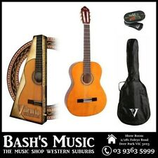 Valencia 3/4 Beginners Nylon Guitar Pack + Bag + Tuner - Natural