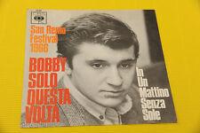"""7"""" SOLO COPERTINA SENZA DISCO BOBBY SOLO 7"""" QUESTA VOLTA ORIG SANREMO 1966 EX"""