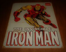 2009 Marvel Comics Retro 16 x 12 Tin Sign Hang - The Invincible Iron Man - Used