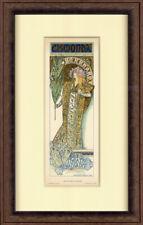 """RARE 1896 """"Gizmonda Theatre Renaissance""""Alphonse Mucha– Les Affiches Illustrées"""