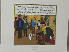 Tintin Extrait Planche Vol 714 pour Sydney #1 - Hergé Moulinsart / 24 x 20 cm