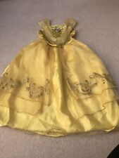 Girls Belle Beauty and The Beast Costume Fancy Dress Light Up 5-6 Years