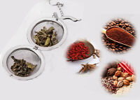 Stainless Steel Round Style Loose Tea Leaf Strainer Herbal Spice Infuser Filter