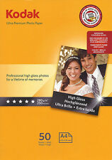 Kodak Ultra Prem Photo Gloss A4 Paper 280gsm 50pk