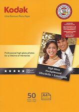 Kodak Ultra Prem Photo Gloss A4 Paper 280gsm 50pk