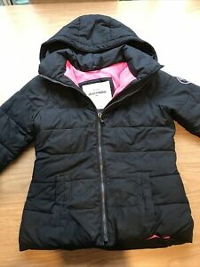 Girls Black Abercrombie and Fitch Padded Coat Jacket Size L Large Kids 12 13 14