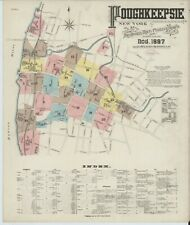 Poughkeepsie,  New York~Sanborn Map©sheet ~24 maps full color