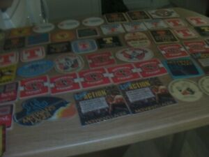 Joblot of 57 x Vintage Scottish Brewery Beer Mats McEwans Tennants Youngers (2)