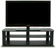 TV Console Stand Entertainment Media Black Center For 42 50 60 Inch Flat Screen