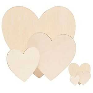 Wooden Love Hearts Shapes Craft Blank Ply Wood Plaques Valentine Sign Wood Heart