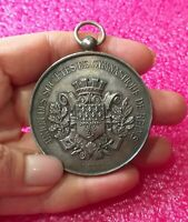 1887 Reims French Art Nouveau Olympic Sport Silver medal by Bertrand 63gr