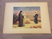 Antique Book Print - Ruth and Naomi - Calderon - 1910