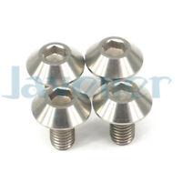 4pcs  M6 *10//15//35//40//45//20//25//30//50mm Titanium Screws Bolts Flange Concave Head